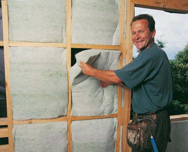 Autex GreenStuf Wall Insulation Batts been installed