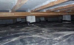 Installed Insulation Gound Vapour Barrier Under Chch Property
